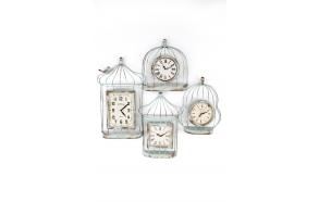 BIRDCAGE MULTI CLOCK