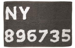 DIGITS bathmat, grey, 90x90cm