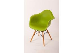 chair Beata, green, beech feet