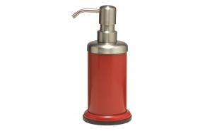 ACERO metal  soap dispencer, red