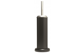 ACERO metal  toilet brush and holder, black