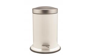 ACERO metal  pedal bin, white