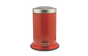 ACERO metal  pedal bin, red