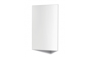 mirror cabinet ,corner mount, white high gloss MDF