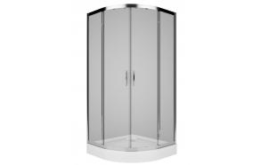 REKORD Shower Enclosure, round 90x90, bright chrome profiles