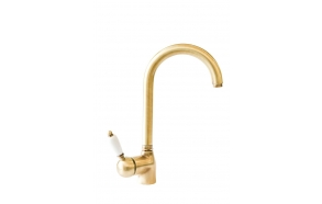 kitchen mixer ROYAL,white lever,bronze