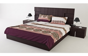 "SATIN BEDDING SET ""DOLCE VITA DIAMOND"", CINNAMON (220x200)"