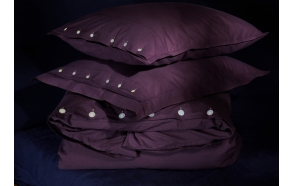 Duvet cover Eggplant 140x200 cm, 100% cotton percale