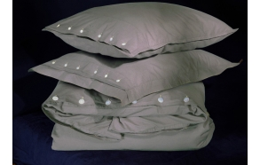 Duvet cover Taupe 140x200 cm, 100% cotton percale