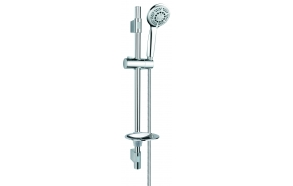 SHOWER SET INTERIA, 5 FUNCTIONS, ADJUSTABLE HEIGHT WALL BRACKETS