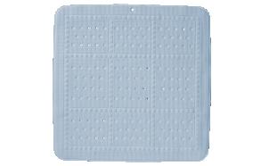 UNILUX showermat, blue, 55x55 cm