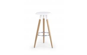 bar chair plastic+wood,white