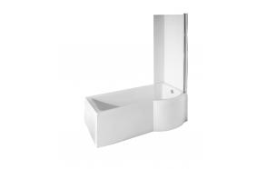 INSPIRA 150x70,vasak nurk+esipaneel+ integreeritud dušisein