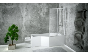 bath screen 80x140 cm