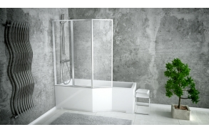shower screen 130x140 cm