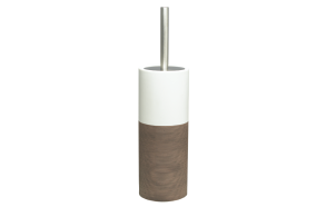 DOPPIO toilet brush and holder, brown,, hand made ceramics