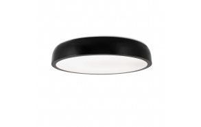 COCOTTE black ceiling lamp,1 x T5 40W,Metal and acrylic opal