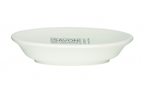 SAVON DE PROVENCE soap dish, white, hand made