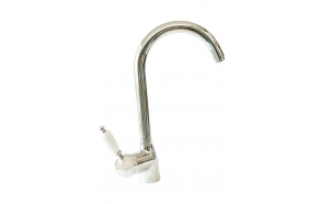 kitchen mixer ROYAL,white lever,chrome