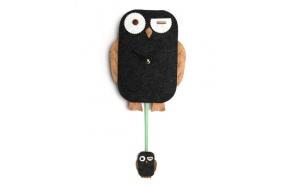 Wall clock Owl H45cm, MDF