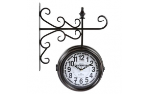 Wall clock Double, 40.5x50x10cm