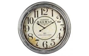 Wall clock Railway, d62.5cm