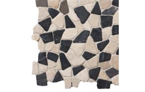 Mosaic marble Grey/White Interlock
