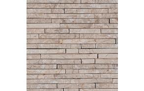Looduslik fassaadikivi sise- või välisseinale (15x100)150x400mm, valge