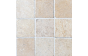 Square White marble 100x100mm, no mesh