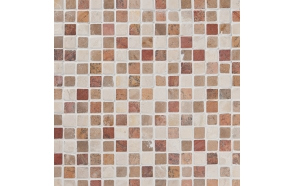 Square Terra-Mustard-White marble 20x20mm