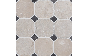 Classic Pattern 100x100mm White-Grey