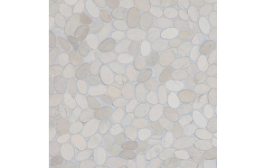 Sliced pebble, White, Interlock