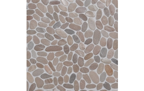 Sliced pebble, Asian Tan, Interlock