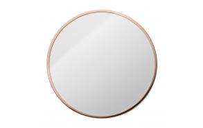 Wall Mirror, Metalframe, Copper Finish, diam 1,2 cm
