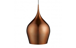aluminium ceiling lamp w textile cable,copper, E27,1X60W