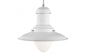 ceiling lamp Fisherman, white,E27 1X60W