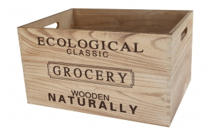 Box Eco, wood, s1, 40x30xh22cm