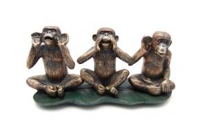 """dekoratiivkuju """"3 monkeys"""", 16 cm"""