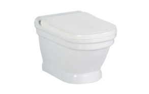 wall hung toilet Antique, white, without seat
