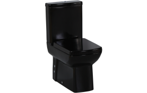 back to wall wc Lara, black, without seat (LR360.40+LR410.40+IT5030)