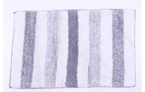 bathmat with stipes, white+blue