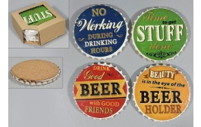 stone coaster Beer, 4 pcs