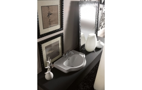 RETRO One hole built in washbasin 62 cm