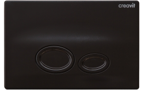 DROP FLUSH PLATE BRIGHT BLACK