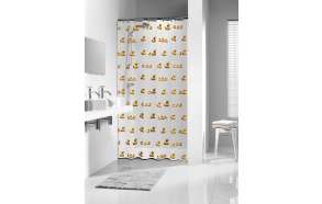 shower curtain Duckling, vinyl, yellow