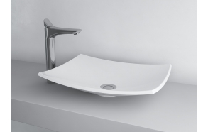 cast stone basin Natura, white