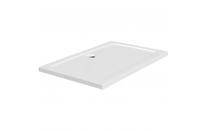 120x80 stone shower tray, white,incl front panel, feet and waste S0019+1711C+S0507+S0510