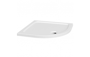 80x80 quadrant stone shower tray, white,incl front panel, feet and waste S0532+S0512+1711C+S0506