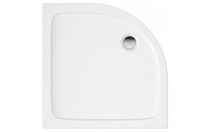 90x90 quadrant stone shower tray, white,incl front panel, feet and waste S0532+S0506+S0512+1711C