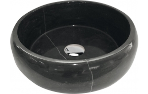 BLOK stone washbasin 42x14cm, blue stone, polished